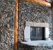 Beautiful Stonework Fireplace