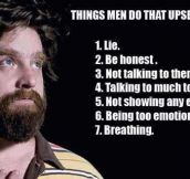 Things That Upset Women