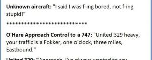 Actual Exchanges Between Pilots And Control Towers…