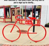 Misunderstood Bike Rack