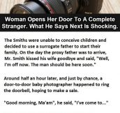 Woman Has The Fright Of Her Life When She Opens The Door. This Is Priceless.