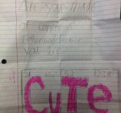 20 Disgustingly Sweet Love Notes from Kids