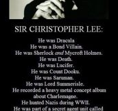 Sir Christopher Lee Is Awesome
