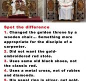 Spot The Difference Between Popes