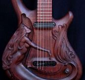 Precious Carved Guitar