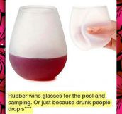 Rubber Wine Glasses Are The Solution