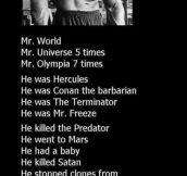Arnold Schwarzenegger's Achievements