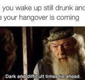 Waking Up Still Drunk