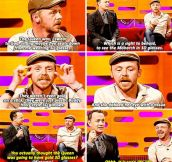 Simon Pegg And The Queen