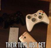 Boys Love Their Toys