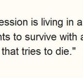 Depression Described Perfectly