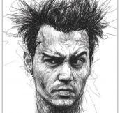 Unique Drawing Of Johnny Depp