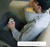 Popcorn Holder For Lazy People