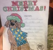 Christmas Card From Random Kid To Soldier