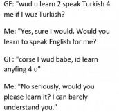 Please Learn English