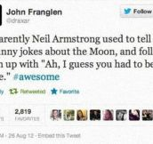 Neil Armstrong's Humor