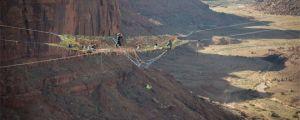 Extreme Slackline Over A Canyon