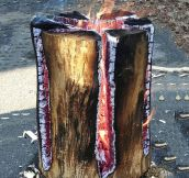 Here's A Swedish Fire Log, It's Pretty Clever