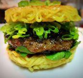 Ramen Noodle Burger