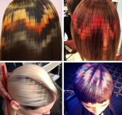 Pixelated Hair Coloring