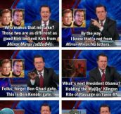 Stephen Colbert On Ben Kenobigate