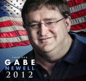 Gabe Newell Presidential Propaganda