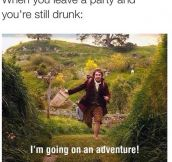 Leaving A Party
