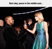 Kanye And Taylor Awkward Handshake