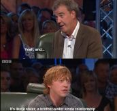 Rupert Grint Talking About Kissing Emma Watson