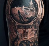 Moon Landing Tattoo