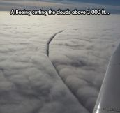 Cutting Clouds In The Sky