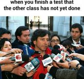 When You Finish A Test