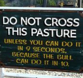 Do Not Cross Or Else