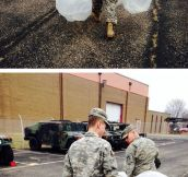 Pranking A Soldier