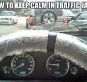 Staying Calm At Traffic Jams