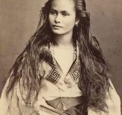 Beautiful Woman From 1875
