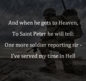 One More Soldier Reporting