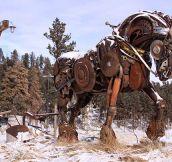 Scrap Metal Horse
