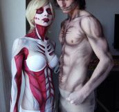 Female Titan And Eren Cosplay