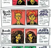 Book Harry Vs Movie Harry