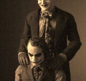 Jack Nicholson And Heath Ledger As The Jokers