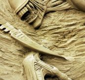 Alien Sand Sculpture