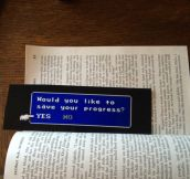 The Best Bookmark Ever