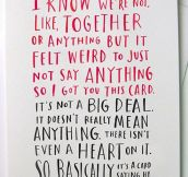 The Perfect Card For Shy People