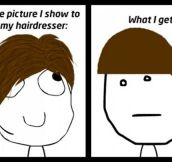 It's The First Lesson In Hairdresser School