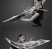 Metal Violin Looks Deadly