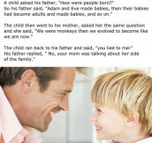 A Child Asked His Father