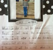 First-Grader Describes Life At 100