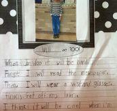 First-Grader Describes Life At 100