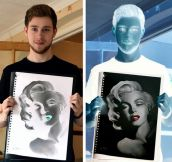 Impressive Negative Drawing